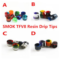 Wholesale Free Bear Pattern - SMOK TFV8 MOUTH PIECES Pretty pattern Epoxy Resin drip tips for SMOK TFV12 TFV8 TFV8 Big Baby Wide Bore drip tips DHL Free