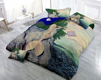 Wholesale Custom Drawings Can be Customized D Mysterious Mermaid Digital Printing Cotton Satin Piece Duvet Cover Sets Bedding Sets