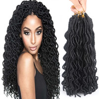 "Wholesale Synthetic Hair Extentions - 24 Roots 24"" Faux Locs Curly Crochet Hair 100g pack Crochet Braids Hair Extentions Synthetic Crochet Braiding Hair Low Temperature Fiber"