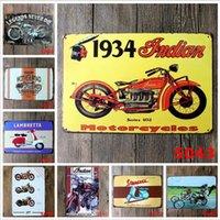 motosiklet el işleri toptan satış-Motosiklet Bağbozumu Zanaat Teneke Işareti Retro Metal Boyama Antika Demir Posteri Bar Pub Işaretleri Duvar Sticker Sanat