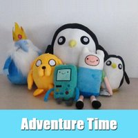 Wholesale Ice King Adventure Time - Adventure time Plush Toys Finn and Jake Beemo BMO Penguin Gunter Ice king Soft Stuffed animals Plush Dolls Toys kids gift