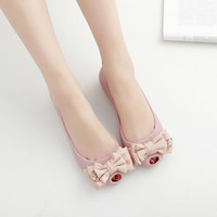 Wholesale Fishing N - Fish Mouth Reverent Beach Shoes women Jelly Shoe Flat Heel Bottom Level With Bow Woman Summer Sandals