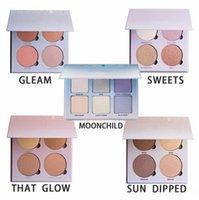 Wholesale Makeup Cosmetic Blush Blusher - Newest Glow Kit Makeup Face Blush Powder Blusher Palette Powder Cosmetic 5 Shades: A-B-H GLOW KIT GLOW 100% NEW Brand free ship
