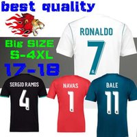 blu red - 2018 new Real Madrid Home white Soccer Jersey Away black soccer shirt Ronaldo Bale Football uniforms Asensio SERGIO RAMOS third blu