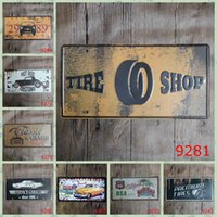 Wholesale Drive Signs - Drive In Liquor Store Tin Posters Beep 30X15 CM Metal Tin Sign Tire Shop License Plates Iron Paintings Hot Rod Customs 3 99rjB