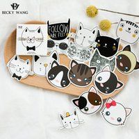 Vente en gros - Cartton Stickers Touch Head Adorable Pet Head Hand Account Seal Album DIY Stickers décoratifs Modèle de chien et de chat Petits cadeaux