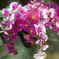 Wholesale Orchids Quality - Hight Quality Vivid Artificial Phalaenopsis Fake Butterfly Orchid Flower Home Garden Wedding Decoration