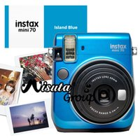 Wholesale Fuji Instant - Wholesale-Fujifilm Fuji Mini 70 Camera Instax Mini 70 Instant Film Photo Camera Blue Yellow Red Gold Color Available