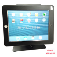 """Wholesale Display Locks - Wholesale- for iPad 2 3 4  air pro 9.7"""" display stand with security locking anti-theft enclosure fix on countertop or desk eStand"""