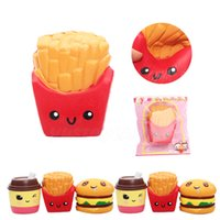 Wholesale Wholesale French Fries - 2017 New High Quality kawaii cute Jumbo 12CM french fries Soft Scented Bread Cake squishy Slow Rising Elasticity Stretch Kid toy