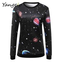 Wholesale Space Galaxy Cosmic - Wholesale- Free Shipping 2016 Autumn Winter Women Sweatshirts cosmic space galaxy star Printed Tracksuits Hoodies