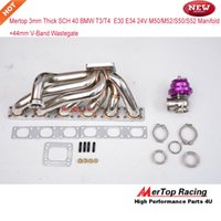 Wholesale Race Manifold - Mertop Race 3.0mm tube thickness STEAM PIPE for BMW T3 T4 Turbo Manifold E30 E34 24V M50 M52 S50 S52+44mm V band Wastegate