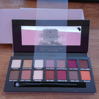 Wholesale Modern Shadow - Chirstmas gift 2017 Ship in 24hrs! Modern Eye shadow Palette 14colors limited eye shadow palette with brush pink eyeshadow palette