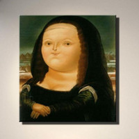 Wholesale Funny Pictures Frames - Framed 100% Hand-painted Figure Canvas Oil Painting Modern Funny Smile Mona Lisa Home Living Room Decoration Pictures Wall Art AMP60