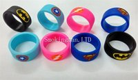 Wholesale Silicone Bands Diy - New Design Vaporizer Super Hero Vape Band Rubber silicon ring for DIY Tank Mod custom silicone vape bands