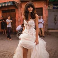 свадебное платье цветочное плюс размер оптовых-2017 3D цветочные V-образным вырезом многоуровневое юбка пляж свадебные платья спинки плюс размер элегантный сад страна малыша свадебные платья