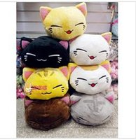 Wholesale Toy Babe - Wholesale-2014 New 7 cute sleeping cat Cotton plush pillow toys for children Babe boy .Free shipping