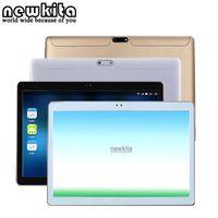 Wholesale Dual Sim Gps Flip - Wholesale- Newkita Tablet 10.1 inch 3G MT8752 Octa Core Android 5.1 RAM 4GB ROM 32GB 1280*800 pxl 5.0MP GPS Bluetooth Dual SIM PC Flip Case