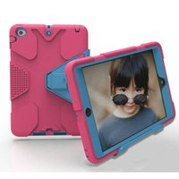 Wholesale Duty Case Ipad - Defender Case For iPad mini 1 2 3 4 Air2 Pro 9.7 Shockproof Robot Case Military Extreme Heavy Duty Silicon Cover for LG G Pad2 G2 Pad Skin