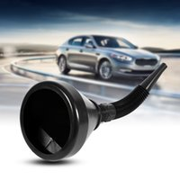 Wholesale Gasoline Cans - Black 2 In 1 Plastic Funnel Can Spout for Oil Water Fuel Petrol Diesel Gasoline for Cars Motorcycle