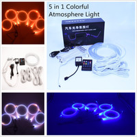 Wholesale Drag Lights - New Multi-Color RGB Flexible Neon Wireless Remote Control Car Colorful Cold Light A Drag Five Light Guide Atmosphere Lights