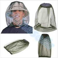 Wholesale Midges Net - fishing Midge Mosquito Insect Hat Bug Mesh Head Net Face Protector Travel Camping outdoor gear kit