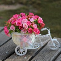 Wholesale vase weaving resale online - Vase Flowers Artificial Silk Flower Basket Set For Home Office Decoration Float Suit Weave A Variety Of Colors qb J R