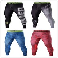 Wholesale Tights For Men Fashion - Wholesale-Men's Brand profession Armour fitness Compression pants tight skin trousers stretch pants Suitable For Under Joggers leggings
