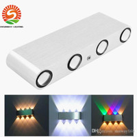 Wholesale Led Bathroom Wall Fixture - hot sale Led wall light 12W 1000lm AC85-265V modern aluminum lamp wall sconce surfaced mounted light fixtures indoor bathroom free shipping