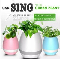 Kimter Magic Flowerpot Touch Music Plant Lamp Recarregável sem fio Play Piano em uma Real Plant Musical Boxes Bluetooth Speaker Night Light