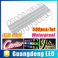 Wholesale Channel Letters Wholesale Prices - 5730 3 LED Module Lights DC 12V Waterproof IP65 LED Modules Light Lamp Channel Letters Backlighting Warrm White Green Red Blue Best Price