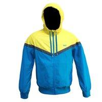 Wholesale Jackets Hidden Pockets - Wholesale- Men Thin Jacket 2016 New Arrival Male Hooded Windbreaker Hidden Pocket Coat For Work Asian Size XXL XXXL 4XL