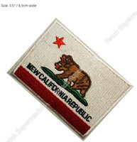 Wholesale California Republic Flag - NEW CALIFORNIA REPUBLIC FLAG Uniform Movie TV Series Costume Cosplay Embroidered Emblem applique iron on patch
