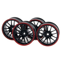 Wholesale Wholesale Car Tires - 4x Wheel 26mm,Rim Hex 12mm, RC 1:10 On-Road Street Drift Car tires 9068