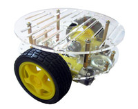 raposa eletrônica venda por atacado-Freeshiping Raspberry Pi 2 RPI3 2WD Carro Inteligente Chassis Robô Inteligente Carro pode Ser Usado para Rastreamento de Luz de Busca de Obstáculo de Evitar o Controle Remoto