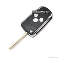 lâmina não cortada venda por atacado-Nova marca de substituição Shell Keyless Entry Folding Flip remoto caso chave Fob 3BTN para Toyota Rav4 Corolla Scion tc lâmina sem cortes