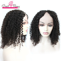 Wholesale Brazilian Virgin U Part Wig - u part natural wave wigs Brazilian virgin human hair wigs in full lace wigs for black women unprocessed silk virgin human wig