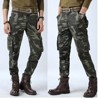 Wholesale army clothing free shipping for sale - Plus Size Male Casual Pants Camouflage Pants Men Crotch Cotton Pant High Quality Trousers Sweatpants Clothing