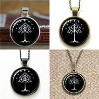 Wholesale Christmas Tree Cufflinks - 10pcs The Lord of the White Tree of Gondor glass Necklace keyring bookmark cufflink earring bracelet