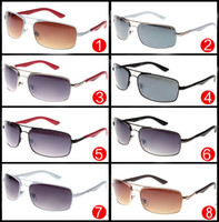Wholesale Sunglasses Metal Cycling - 2017 Brand New Designer Sunglasses for Men and Women A++ quality Driving Sunglasses Eyewear Sun Glass Cycling Eye glasses metal Frame glass