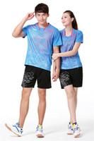 Wholesale China Sports Shorts - New Li Ning Quick Dry China Team Dragon Badminton Shirts and Shorts Tennis Uniform For Men and Women Sports Jerseys