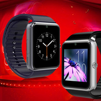 Wholesale Tft Lcd Android - Wholesale GT08 smart watches MTK6260A 128M+64M 1.54 TFT LCD support phone SIM card bluetooth camera compatible with Android retail box