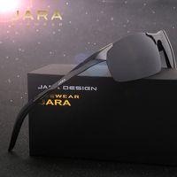 Wholesale magnesium vision - Wholesale- JARA Aluminum Magnesium Men's Polarized Sun glasses Night Vision Mirror Male Eyewear Sunglasses Goggle Oculos For Men 8177