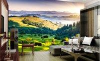 luxus-gold-tapete großhandel-Kundenspezifische Luxus-Gold-Tapete Moderne Tapete Graslandlandschaft für die Wandtapete des Schlafzimmers 3d