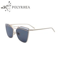 Man malaysia pc - New Paragraph Malaysia Alloy Frame Transparent Eyebrow Sea Female Women Cat Eye Sunglasses Brand Designer Twin Beams Ladies Sun Glasses UV