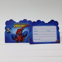 spiderman birthday invitations - movie spiderman theme kids birthday party paper invitation card cm birthday party supplier postcard