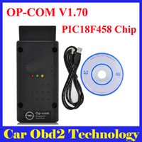 Wholesale Newest Flash Update - 5Pcs Lot 2017 Newest OBD2 OPCOM V1.70 Support Flash Update For Opel OP COM OP-COM Diagnostic Tool With PIC18F458 Chip Free Shipping