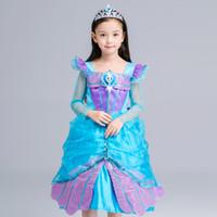 baby kids mermaid ariel princess dress party girls dresses sequin long sleeve girls costume children cosplay halloween christmas gift wx d26 - Baby Mermaid Halloween Costume