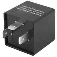 Wholesale Relay Switches - 12V Universal 3 Pin Car Adjsutable Car LED Turn Signal Flasher Blinker Indicator Flasher Relay 135591201