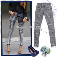 Vente en gros-1898 Nouvelle 2017 Europe et l'Amérique Fashion Candy Colors Pantalons Femmes Skinny Leopard Pencil Jeans Femmes High Stretch Cotton Jeans